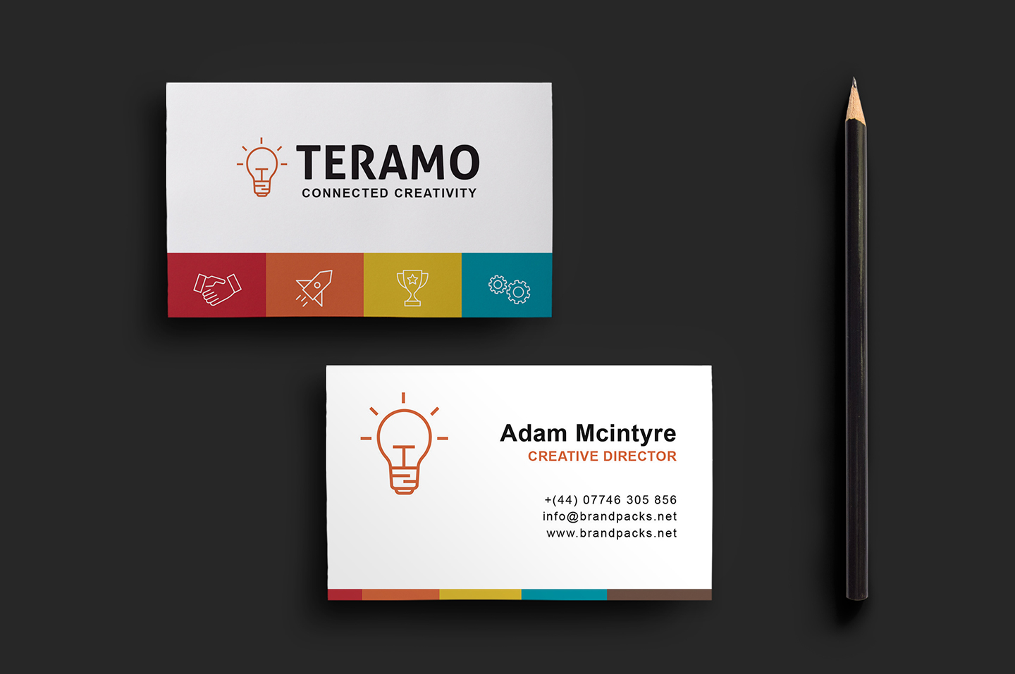 Clean and professional double sided business card template for 2 sided business cards templates free