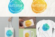 Create a Custom Feminine Watercolor Logo