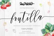 Frutilla Modern Calligraphy Typeface
