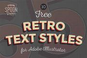 10 Retro Illustrator Text Styles