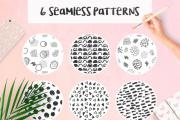 6 Hand Drawn Seamless Patterns