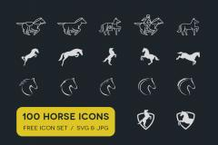 100 Horse Icons