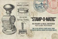 Stamp-O-Matic Vintage Stamp & Seal Brush Set