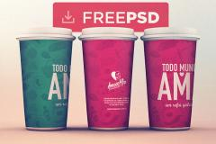 Cups Mockup PSD