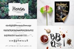 Hensa - Free Brush Script Font