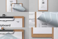 PSD Clipboard Stationery Mockup