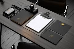 Dark Modern Stationery Mockup