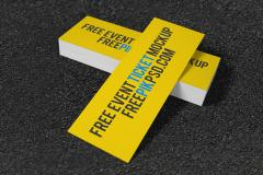 2 Free Concert Ticket Mockups