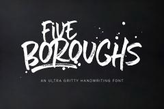 Five Boroughs Handwriting Font