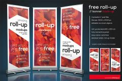 Roll-up Banner PSD Mockup