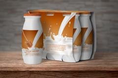 Yogurt Bottle Packaging Mockup Set