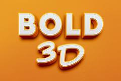 Bold 3D Text Effect