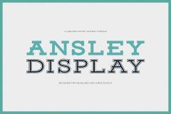Ansley Display Font Family