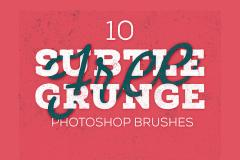 10 Subtle Grunge Photoshop Brushes