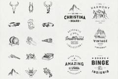 Illusion Hand Drawn Vector and Insignia Collection