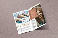 Bi-Fold Brochure PSD Mockup