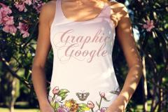 Woman Wearing Tank Top Shirt Mockup