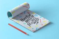 Angled Notepad PSD Mockup