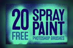 20 Spray Paint Photoshop Brushes