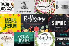 Limited Time: 50 Fresh Fonts for 2017