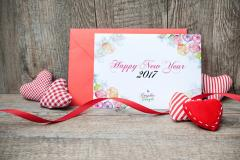 New Year and Valentine's Greeting Card Template & Mockup