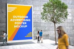 Giant Outdoor Poster Mockup