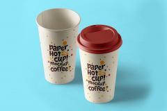 Paper Hot Cups Mockup