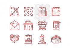 Valentine's Line Icons