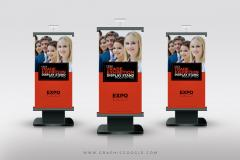 Trade Show Stand Up Banner Mockup