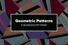 8 Seamless Geometric Patterns