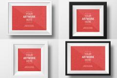 6 Clean Art Frame Mockups