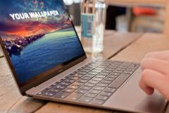 Typing on a MacBook Mockup