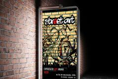 Street Advertisement Vertical Billboard Mockup