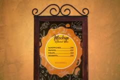 Hanging Restaurant Menu Mockup Set
