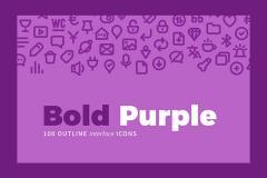 100 Bold Purple Icons