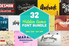 Limited Time: 32 Hidden Gems Font Bundle