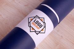 Paper Tube Logo Mockup