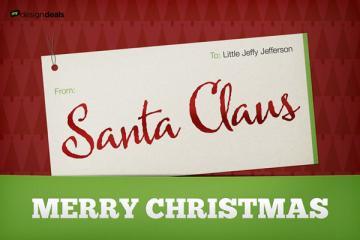 Classy, Digital Christmas Gift Name Tag