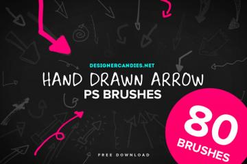 80 Hand Drawn Arrows PS Brush Set