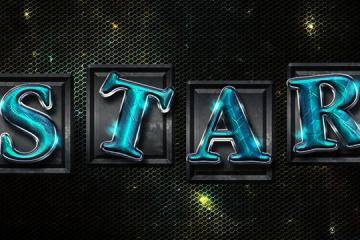 Space Tiles Text Effect