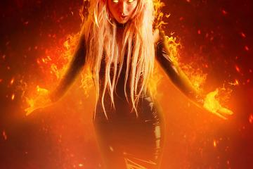 Create a Fantasy Fiery Portrait Photo-Manipulation