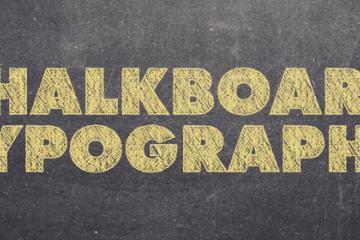 10 Creative Examples of Chalkboard Typography