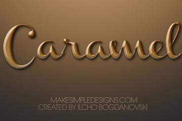How to make a Caramel Text Effect in Photoshop