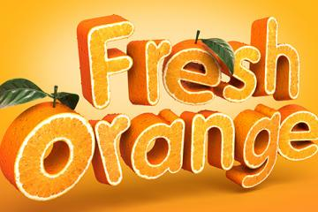 Create a 3D, Fruit-Textured, Text Effect