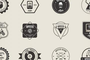 Freebie: 32 Hipster Badges (AI, EPS, PNG)