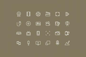 Photo & Video Icon Set