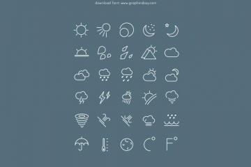 30 Free Weather Icons
