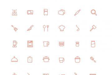 30 Kitchen Icons