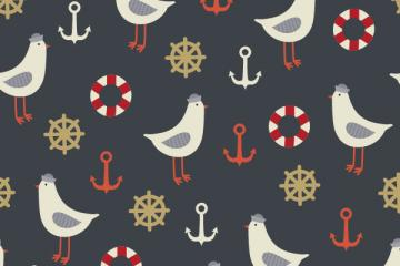 How to Create a Seamless Vintage Nautical Life Pattern in Adobe Illustrator