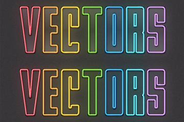 How to Create Colorful Neon Text with Adobe Illustrator